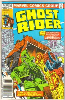 Ghost Rider #69 comic book near mint 9.4