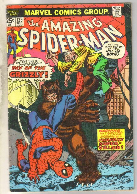 Amazing Spider-man #139 comic book coupon clipped
