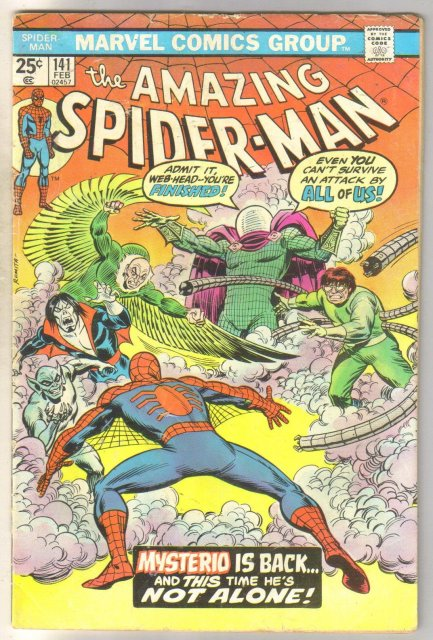 Amazing Spider-man #141 comic book coupon clipped