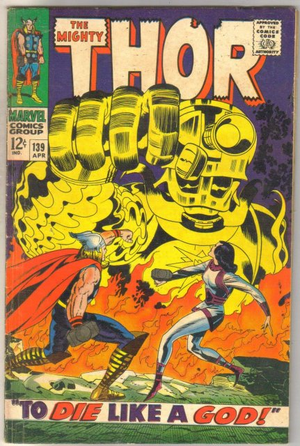 Thor #139 comic book very good 4.0