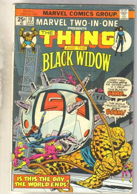 Marvel Two-In-One #10 comic book very good 4.0