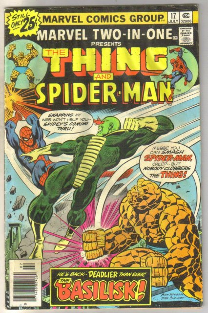 Marvel Two-In-One #17 comic book fair 1.5