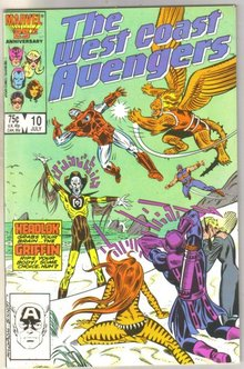 West Coast Avengers #10 comic book fine 6.0