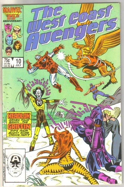 West Coast Avengers #10 comic book fine 6.0