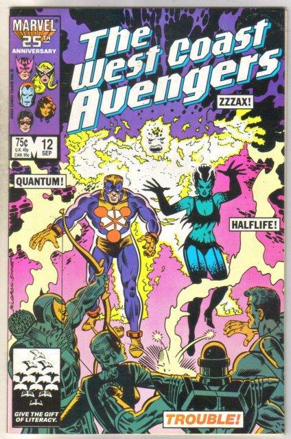 West Coast Avengers #12 comic book near mint 9.4
