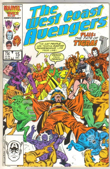 West Coast Avengers #15 comic book near mint 9.4