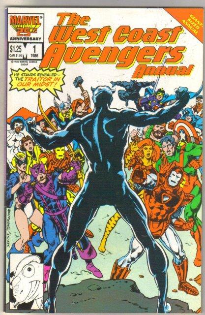 West Coast Avengers Annual #1 comic book near mint 9.4