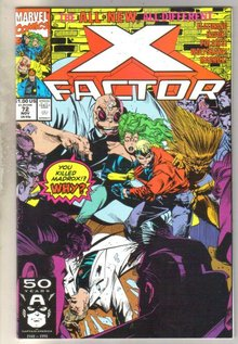 X-factor #72 comic book mint 9.8