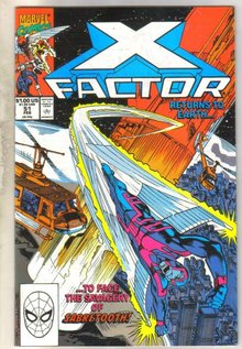 X-factor #51 comic book fine 6.0