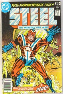 Steel #1 comic book very fine 8.0