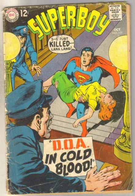 Superboy #151 comic book good 2.0