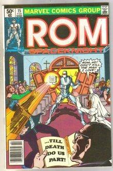 Rom #15 comic book near mint 9.4