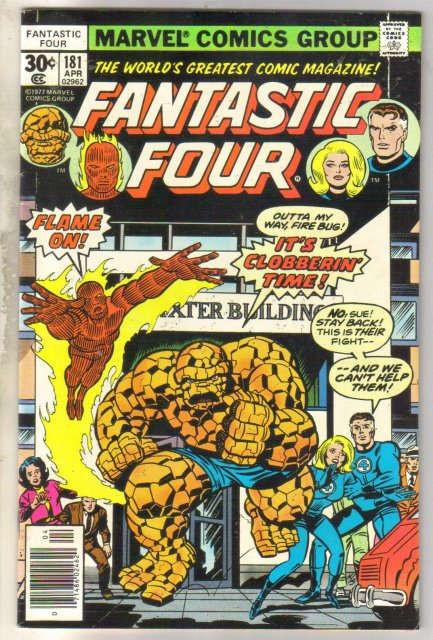 Fantastic Four #181 comic book near mint 9.4