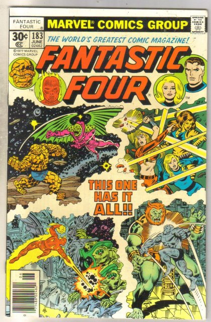 Fantastic Four #183 comic book near mint 9.4