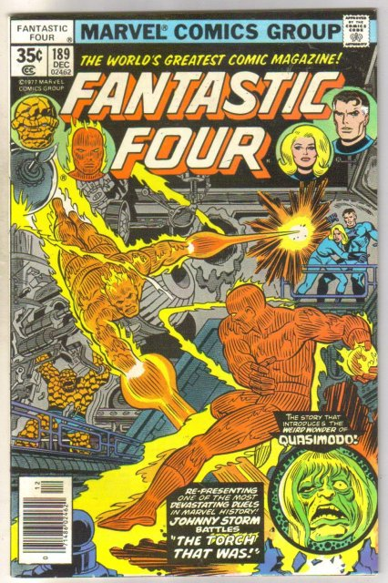 Fantastic Four #189 comic book near mint 9.4
