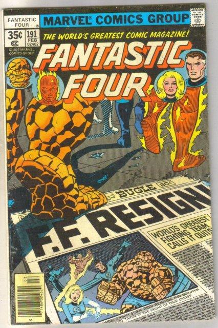 Fantastic Four #191 comic book very good 4.0