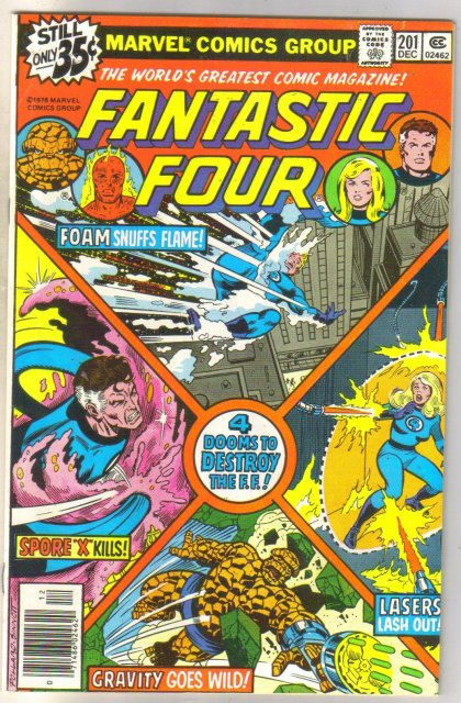Fantastic Four #201 comic book very fine 8.0