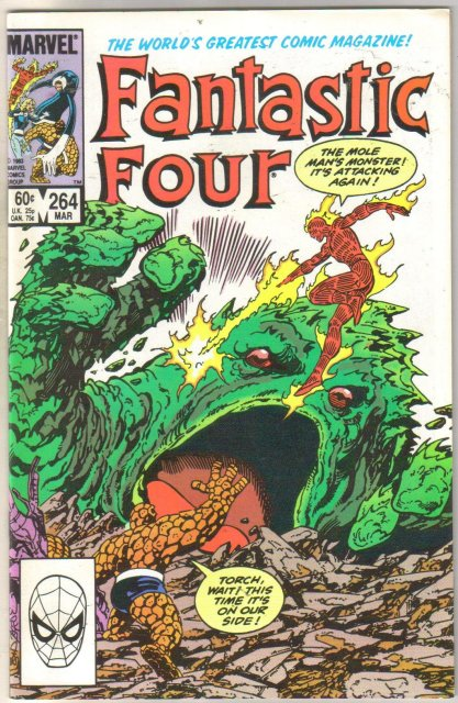 Fantastic Four #264 comic book near mint 9.4