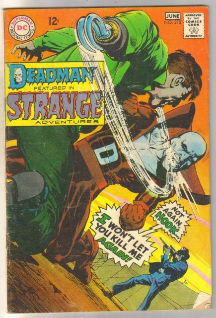 Deadman Starring in Strange Adventures #212 comic book very good 4.0