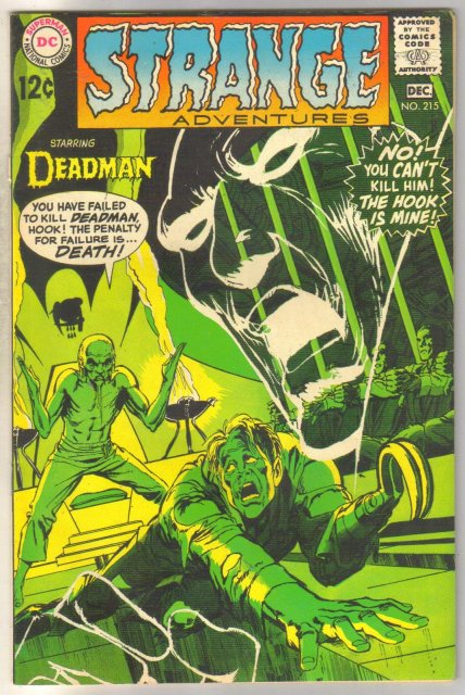 Deadman Starring in Strange Adventures #215 comic book fine 6.0