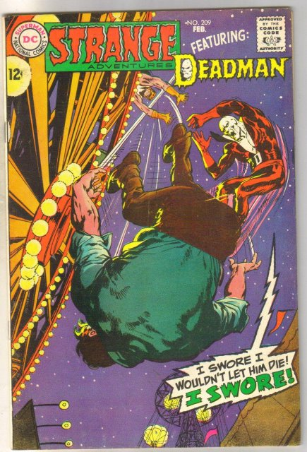 Deadman Starring in Strange Adventures #209 comic book fine 6.0