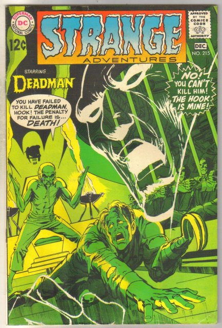 Deadman Starring in Strange Adventures #215 comic book good 2.0