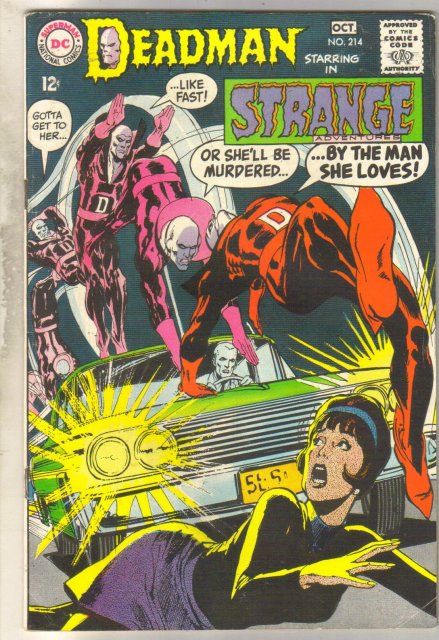 Deadman Starring in Strange Adventures #214 comic book fine 6.0