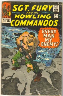 Sgt. Fury and his Howling Commandos #25 comic book good plus 2.5