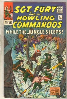 Sgt. Fury and his Howling Commandos #17 comic book fine 6.0