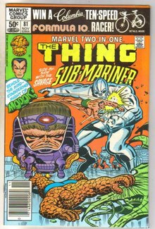 Marvel Two-In-One #81 comic book near mint 9.4