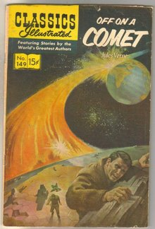 Classics Illustrated #149 Off On a Comet comic book very good/fine 5.0 HRN #167