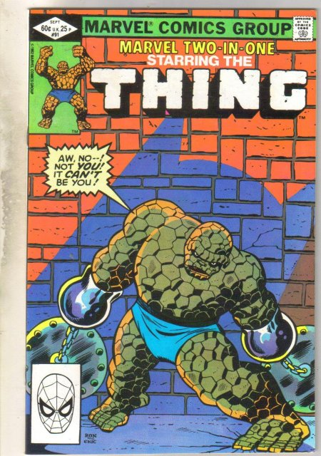 Marvel Two-In-One #91 comic book near mint 9.4