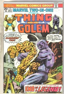 Marvel Two-In-One #11 Golem comic book near mint 9.4