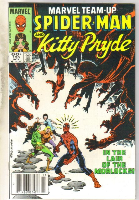Marvel Team-Up #135 Kitty Pryde comic book near mint 9.4