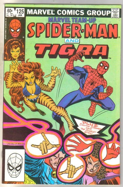 Marvel Team-Up #125 Tigra comic book near mint 9.4