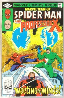 Marvel Team-Up #118 Professor X comic book near mint 9.4