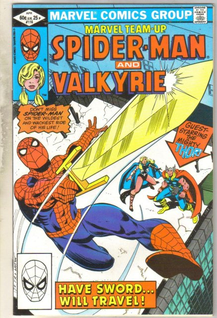 Marvel Team-Up #116 Valkyrie comic book near mint 9.4