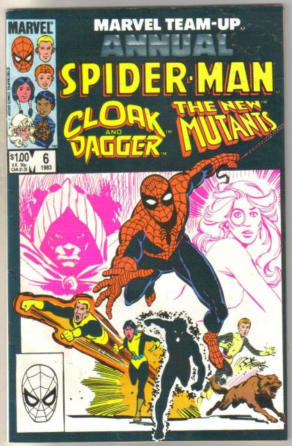 Marvel Team-Up Annual #6 Cloak and Dagger and New Mutants comic book fine 6.0