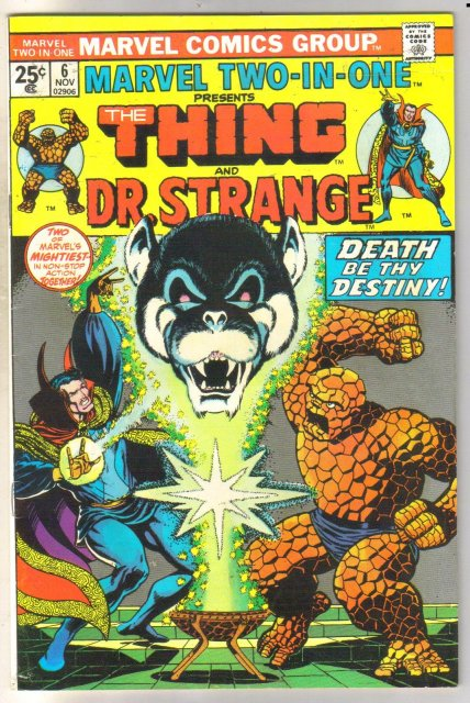 Marvel Two-In-One #6 Dr. Strange comic book very fine 8.0
