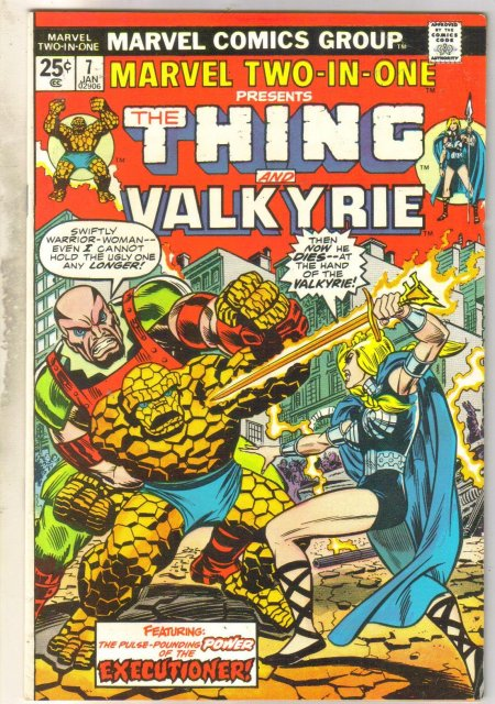 Marvel Two-In-One #7 Valkyrie comic book very fine 8.0