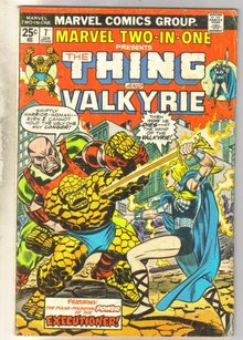 Marvel Two-In-One #7 Valkyrie comic book very good 4.0