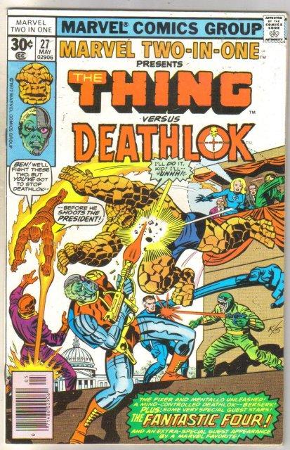 Marvel Two-In-One #27 Deathlok comic book near mint 9.4