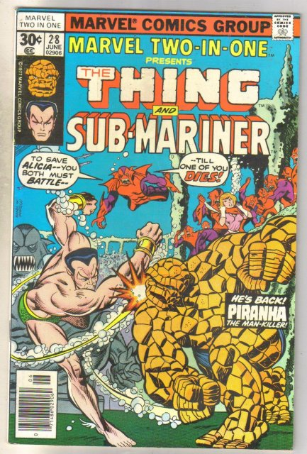 Marvel Two-In-One #28 Sub-Mariner comic book near mint 9.4