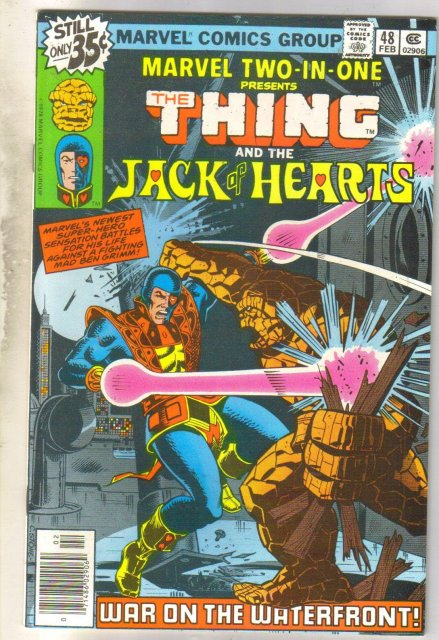 Marvel Two-In-One #48 Jack of Hearts comic book near mint 9.4