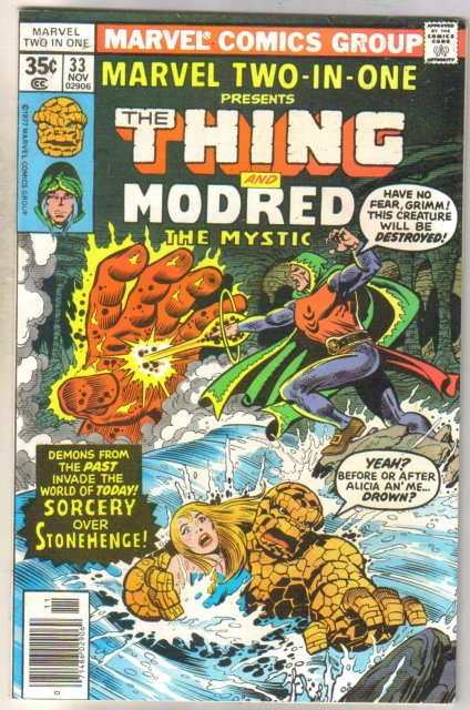 Marvel Two-In-One #33 Modred comic book near mint 9.4