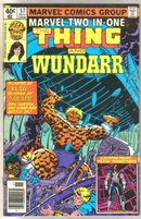 Marvel Two-In-One #57 Wundarr comic book very fine 8.0