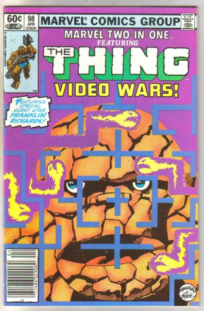 Marvel Two-In-One #98 Video Wars comic book near mint 9.4