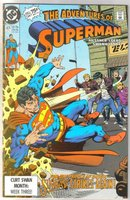 Adventures of Superman #471 comic book near mint 9.4