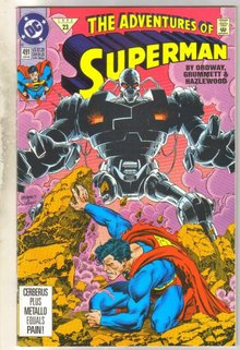 Adventures of Superman #491 comic book near mint 9.4