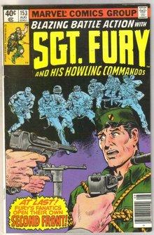 Sgt. Fury #153 comic book fine 6.0
